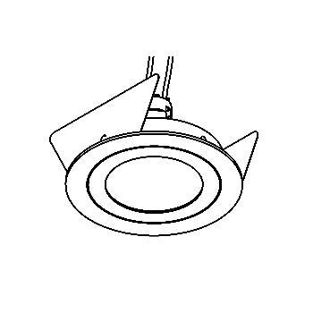 Drawing of ARCA50/.. - Ø72-75, inbouwspot - rond - vast - zonder transfo