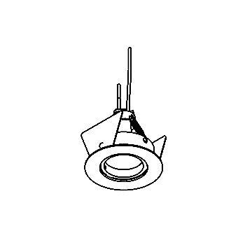 Drawing of FOCUS35/.. - Ø49, inbouwspot - rond - vast - zonder transfo