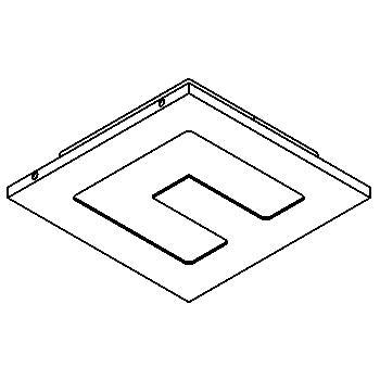 Drawing of CUSCO/.. - 73x73, inbouwspot - vierkant - zonder transfo