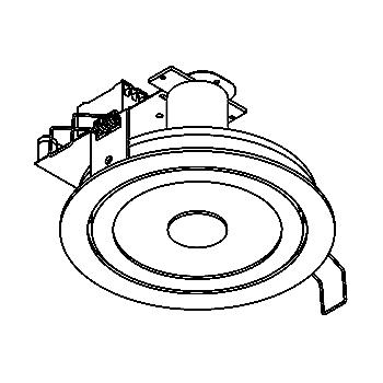 Drawing of SCOOP/.. - Ø123, downlight - round - fixed