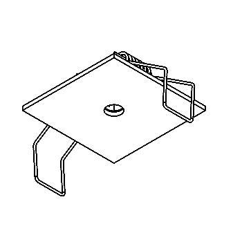 Drawing of 50.10/.. - ROSETTE, inbouwrozet  - vierkant
