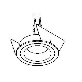 Drawing of YOKO/.. - Ø70, inbouwspot - rond - vast - zonder transfo