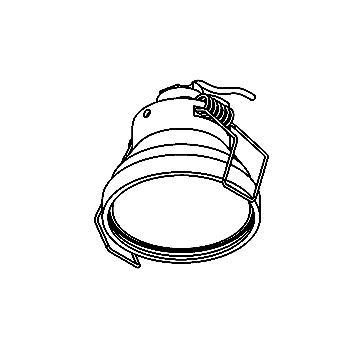 Drawing of ZIA50V/.. - Ø49, inbouwspot voor verandaprofielen - rond - zonder transfo