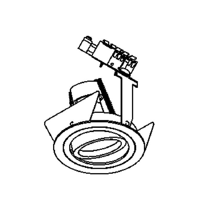Drawing of CAMBIO/.. - Ø80, inbouwspot - rond - richtbaar