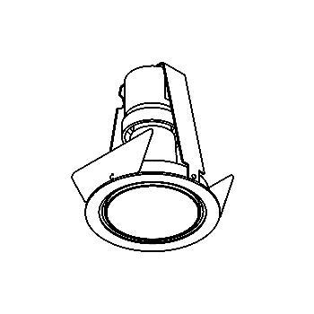 Drawing of FABO/.. - Ø80, downlight - round - fixed