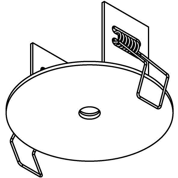 Drawing of 81.10/.. - ROSETTE IN, inbouwrozet  - rond