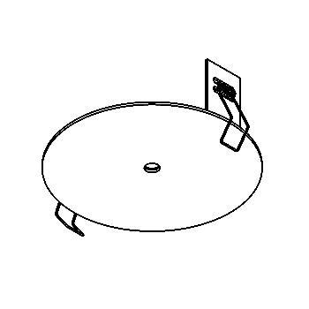 Drawing of 141.10/.. - ROSETTE IN, inbouwrozet  - rond