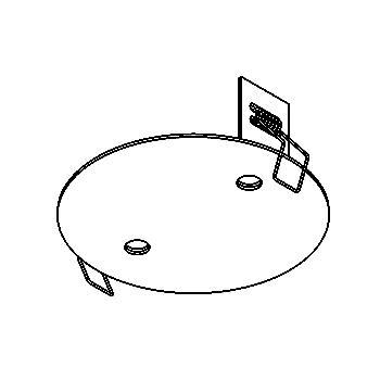 Drawing of 122.10/.. - ROSETTE IN, inbouwrozet  - rond