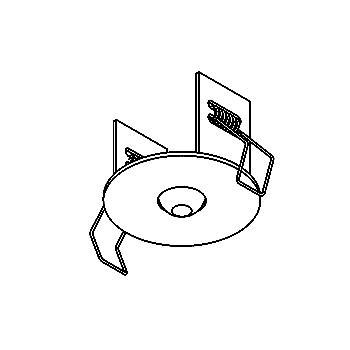 Drawing of 065.M8/.. - ROSETTE IN, inbouwrozet  - rond - met bolgewricht  B3