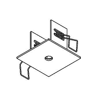 Drawing of 60.10/.. - ROSETTE IN, inbouwrozet  - vierkant