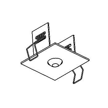Drawing of 065.65.M8/.. - ROSETTE IN, inbouwrozet  - vierkant - met bolgewricht  B3