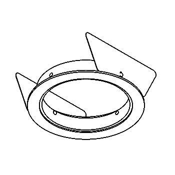 Drawing of 080.80.M6/.. - ROSETTE IN, inbouwrozet  - vierkant - met bolgewricht  B3