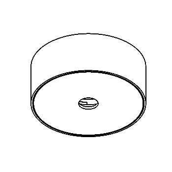 Drawing of 004/.. - ROSETTE UP, opbouwrozet - rond