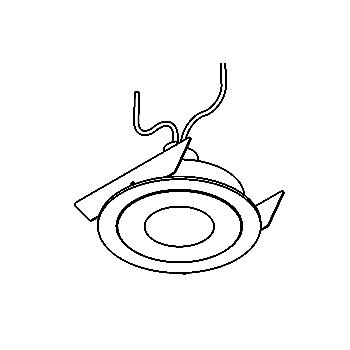 Drawing of PICO35/.. - Ø65, downlight - round - fixed - without transformer