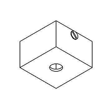 Drawing of 017/.. - ROSETTE UP, opbouwrozet - vierkant