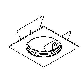 Drawing of SINGLEBASE/.. - Ø80 SYSTEM, inbouwbasis voor cassette - vierkant