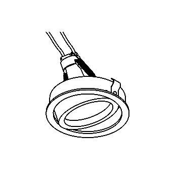 Drawing of CASDIVAC/.. - Ø80 SYSTEM, inbouwcassette - rond - richtbaar - zonder transfo