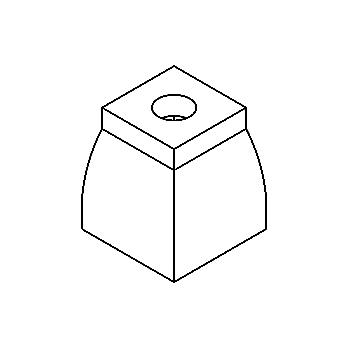 Drawing of 521406/.. - GLASS G4, glas - helder aan de buitenkant - opaal wit aan de binnenkant