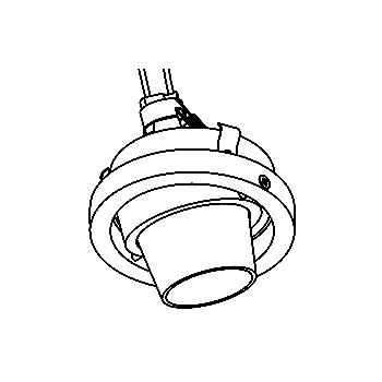 Drawing of CASFORUMC/.. - Ø80 SYSTEM, inbouwcassette - rond - richtbaar - zonder transfo