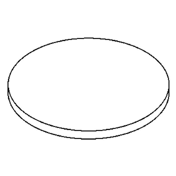 Drawing of 00GLAS5MM/.. - LAVA - ETNA, vervangglas - rond mat glas 5mm voor 1135-1136