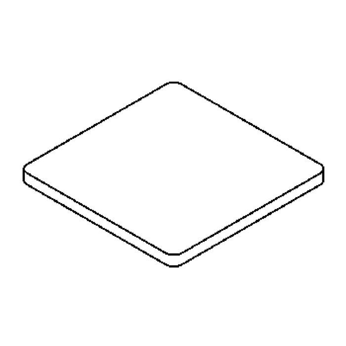Drawing of 00GLAS5MMSQ/.. - LAVA - ETNA, vervangglas - vierkant mat glas 5mm voor 1138 - S1139