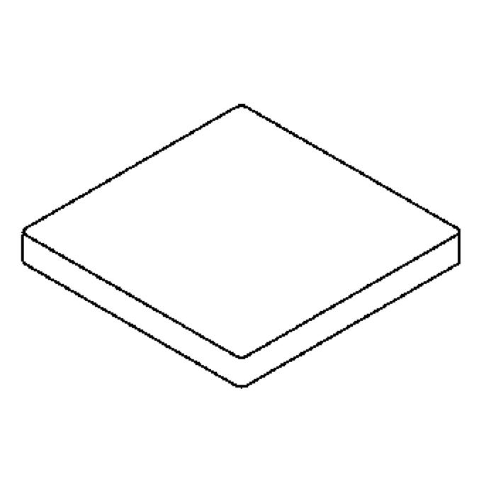 Drawing of 00GLAS9MMSQ/.. - LAVA - ETNA, spare glass - square mat glass 9mm for 1138 - S1139