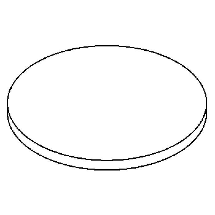 Drawing of 00GLASLAVAD140.9M/.. - LAVA GRANDE, vervangglas - helder glas voor lava grande