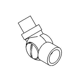 Drawing of 015.M8/.. - KNEEJOINT, accessoires voor opbouwspot - 12V