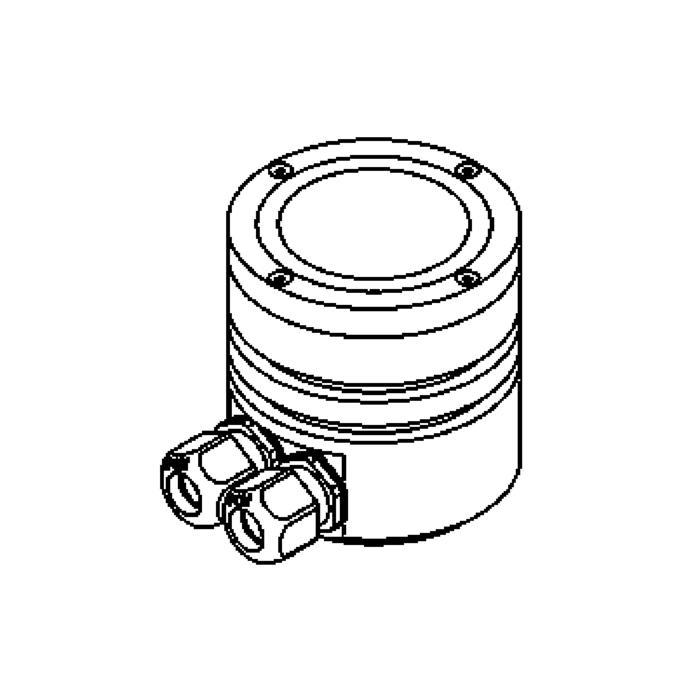 Drawing of 1100/.. - LAVA, vloerspot - vast - zonder transfo