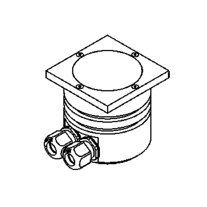 Drawing of 1103/.. - LAVA, vloerspot - vierkant - vast - zonder transfo