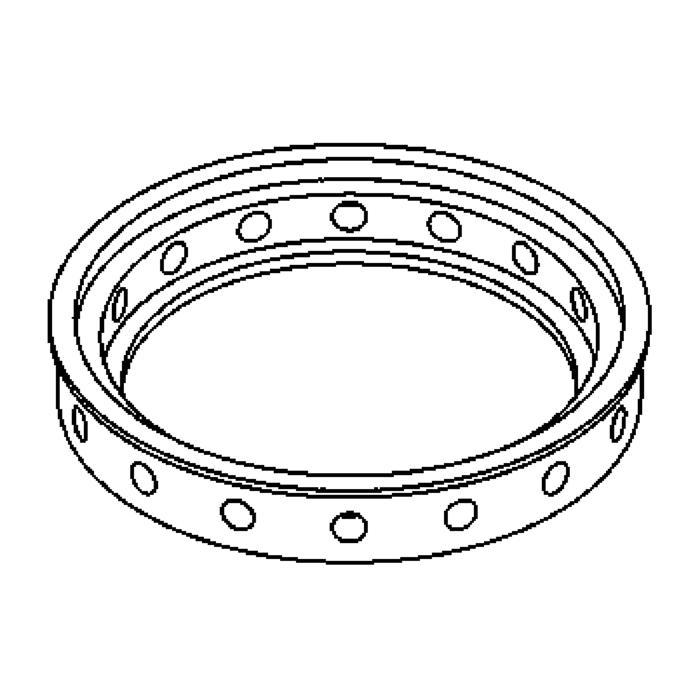 Drawing of 1114/.. - LAVA - ETNA, accessoires voor grondspot - afkoelingsring