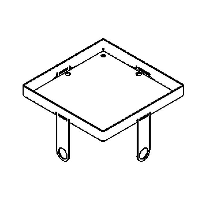 Drawing of 1115.100.9/.. - LAVA - ETNA, accessoires voor grondspot - inwerkkader 100x100 voor glas 9mm
