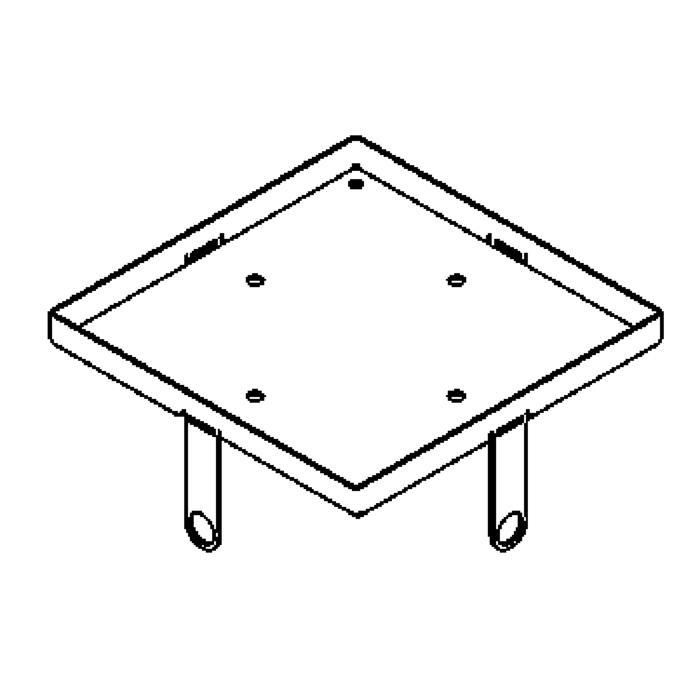 Drawing of 1115.135.5/.. - LAVA - ETNA, accessoires voor grondspot - inwerkkader 135x135 voor glas 5mm