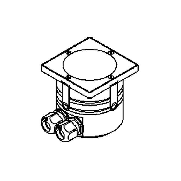 Drawing of 1118/.. - LAVA, encastré de sol avec cadre d'encastrement égal au sol - orientable - sans transfo