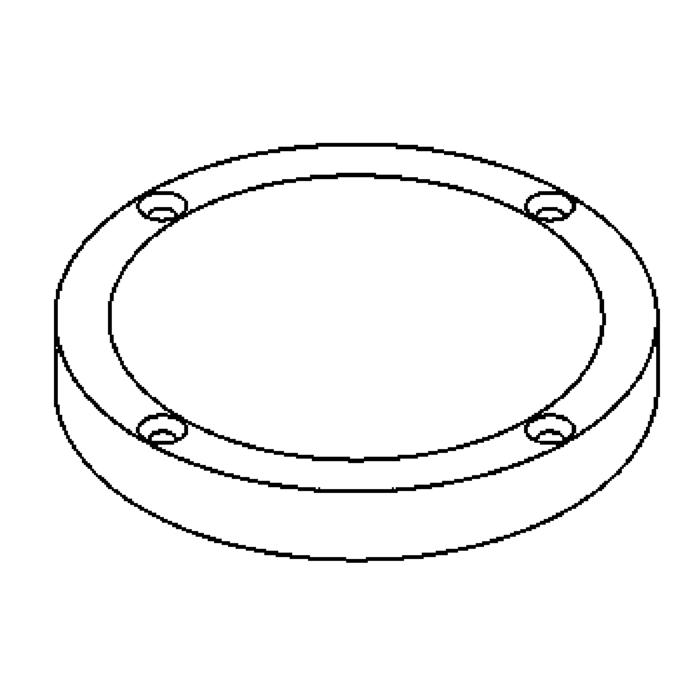 Drawing of 1135.9/.. - LAVA - ETNA, accessoires voor grondspot - afdekplaat