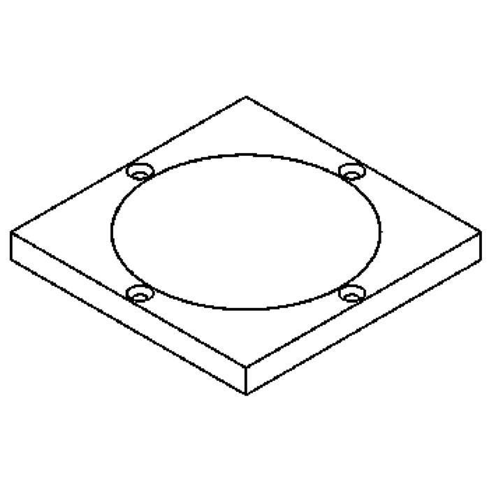 Drawing of 1136.5/.. - LAVA - ETNA, accessoires voor grondspot - afdekplaat