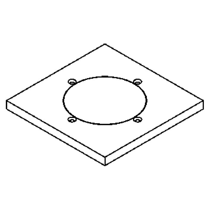 Drawing of 1136.5.135/.. - LAVA - ETNA, accessories for floorlight - cover plate