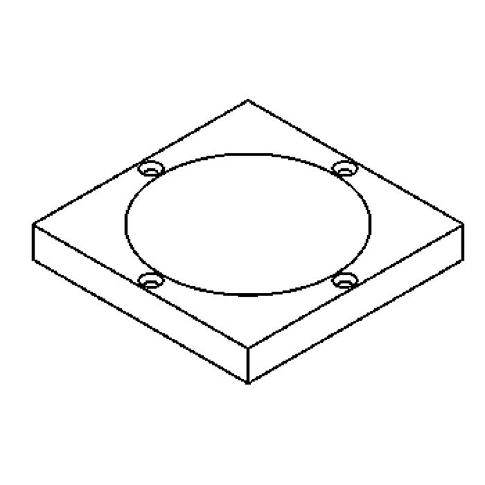 Drawing of 1136.9/.. - LAVA - ETNA, accessoires voor grondspot - afdekplaat