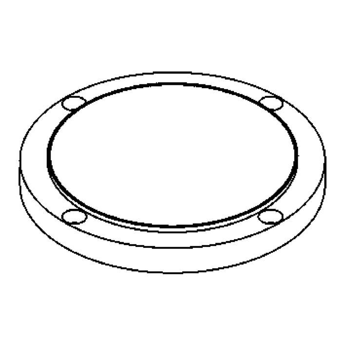Drawing of 1137.5/.. - LAVA - ETNA, accessoires voor grondspot - afdekplaat met boord