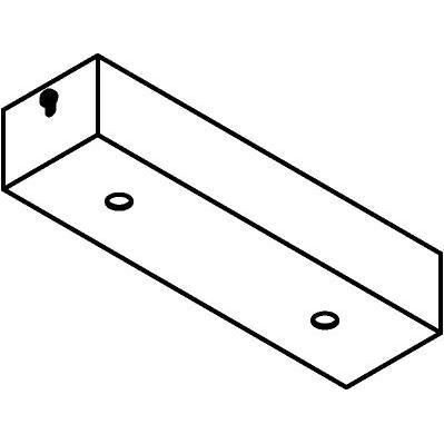 Drawing of 808.ZT/.. - JUBA ZT, plafondverlichting zonder spot of pendel - 20cm - zonder transfo