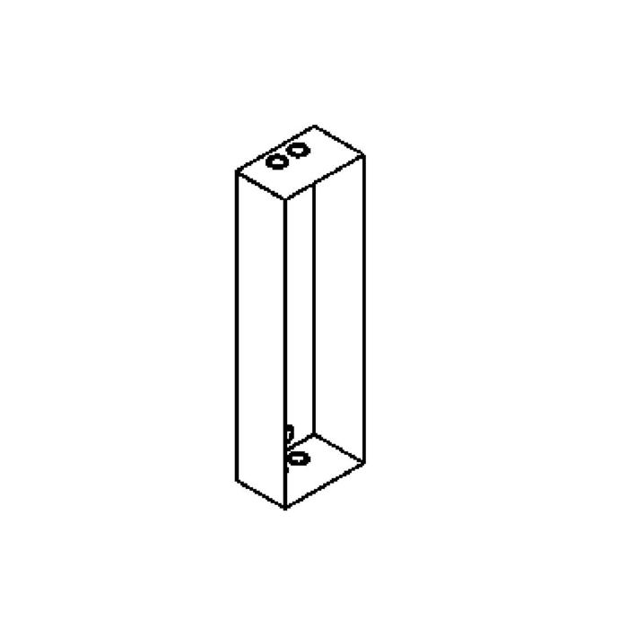 Drawing of W1277B/.. - KATO box RH, inbouwdoos