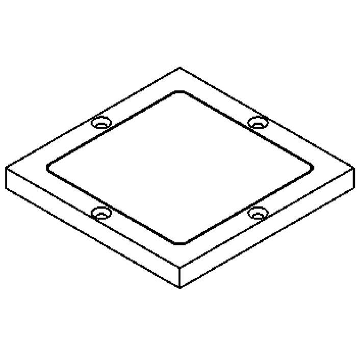 Drawing of 1138.5/.. - LAVA - ETNA, accessoires voor grondspot - afdekplaat