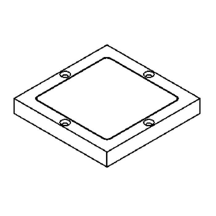 Drawing of 1138.9/.. - LAVA - ETNA, accessoires voor grondspot - afdekplaat