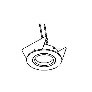 Drawing of FOCUS50.ES50/.. - Ø64, inbouwspot - rond - vast - met gu10 socket