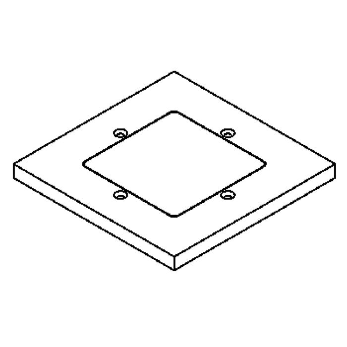 Drawing of 1138.9.135/.. - LAVA - ETNA, accessories for floorlight - cover plate