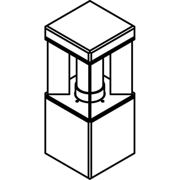 Drawing of T298.400/.. - PORTO GRANDE, tuinpaal - standaard gezandstraald wit glas