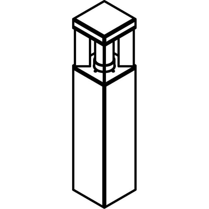 Drawing of T298.600/.. - PORTO GRANDE, tuinpaal - standaard gezandstraald wit glas