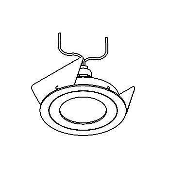 Drawing of TOBY/.. - Ø70, inbouwspot - rond - vast - zonder transfo