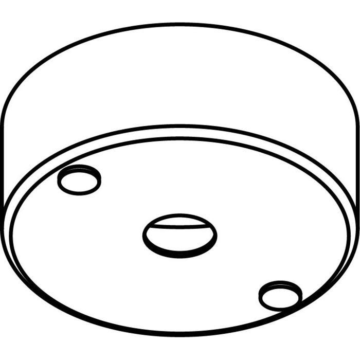 Drawing of 034.B3/.. - ROZET VOOR PENDEL, opbouwbasis voor pendel - rond - met bolgewricht  B3