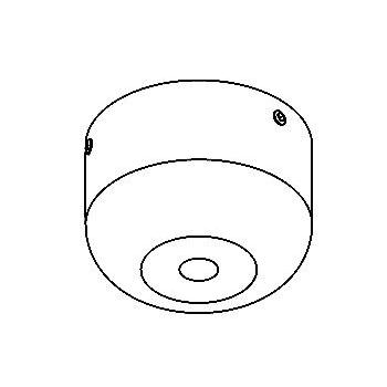Drawing of 033.B3.D8,3/.. - ROZET VOOR PENDEL, built-up base for pendant - round - with swivel B3